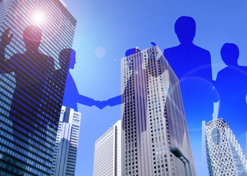 ビジネス街とビジネスマン