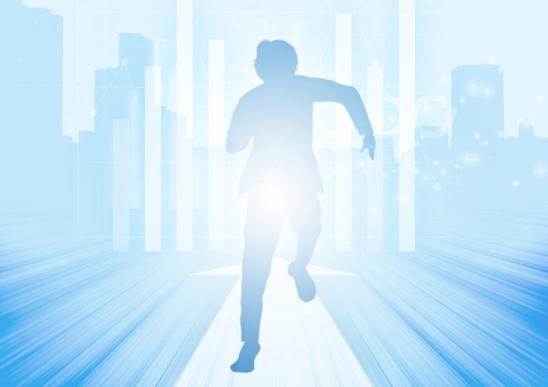 ビジネスの世界で走り続けている男性